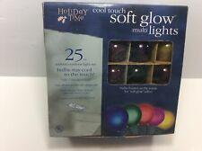 Holiday Time Soft Glow 25 Count Multi Lights Round Ball Globe + Extra Bulbs