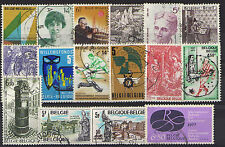 Belgique - 16 timbres oblitérés -