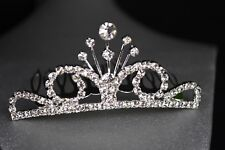 Silver Tiara Tiffany Comb Party Favors Recuerdos Quinceanera Bautizo Bridal Gift