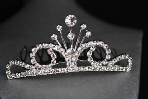 Tiara Princess Tiffany Comb Party Favors Recuerdos Quinceanera Bridal Gift Slvr