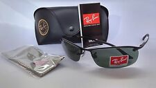 Ray-Ban Active Lifestyle Top Bar RB3183 006/71 Black Frame/Green 63mm NEW & ORG