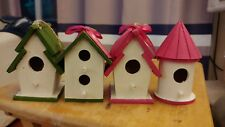 Assorted Pink & Green Painted Birdhouses (37)