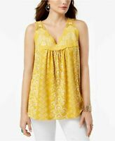 Style & Co Embroidered Sleeveless Top,