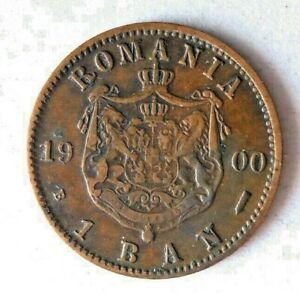 1900 ROMANIA BANI - AU - Scarce Type - High Value Coin - Lot #F23
