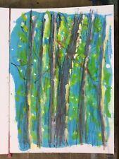 Original drawing postcards from Hickory run state park, Pennsylvania mixed media