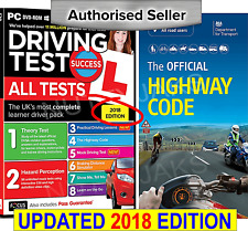 2018 Driving Theory Test & Hazard test CD Rom DVD Highway Code Book Car,llj