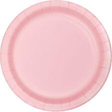 "24 Classic Pink Wedding Birthday Party Tableware 7"" Paper Dessert Plates"