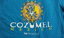 COZUMEL MEXICO PRINCESS CRUISE LINES 100% Cotton Teal Short Sleeve T-Shirt L