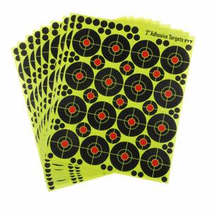 "160pcs Shooting Targets 2"" Reactive Splatter Glow Florescent Paper Target UK Sto"