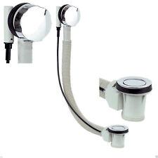 New Modern Round Chrome Dedicated PopUp Bath Waste with Overflow Bathroom Kit UK