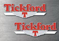 Tickford decal 4 piece sticker kit  7yr water & fade proof vinyl sticker badge