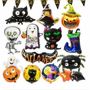 Foil Balloons Halloween Carnival Pumpkin Ghost Skeletons Witch Party Decoration