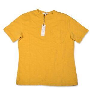 NEW Alex Mill Standard Pocket Tee in Slub Cotton Sunflower Men's Small S NWT $45