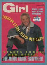 Girl  Magazine 17 January 1987  Five Star  The Bangles  Curiosity Killed The Cat