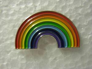 Rainbow pin badge. Lapel. Brand new. Multi coloured design. NHS. Keyworker carer