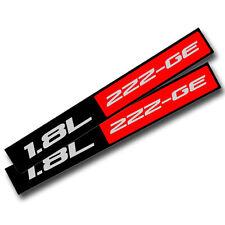 2X BLACK/RED METAL 1.8L 2ZZ-GE ENGINE RACE MOTOR SWAP BADGE FOR TRUNK HOOD DOOR