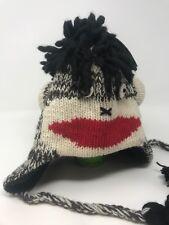PUNK ROCK SOCK Monkey Hat Hand Knit Beanie