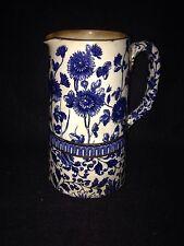 Antique Doulton Burslem Daisy Chain Blue and White Jug