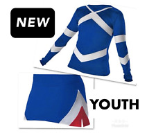 Youth Real Cheerleader Uniform Halloween Costume 26-27.5 / 21-23  SM MED Outfit