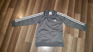 adidas Full Zip Track gray Jacket, Youth Size 7. Free shipping.