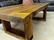 Handmade Rustic Live Edge Coffee Table VIKING Model / 9 colors available