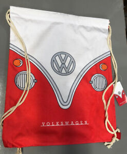 Official Volkswagen VW Campervan Bus red Drawstring Bag new with tags gift