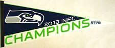 "Seattle SeahawksSuper Bowl XLVIII NFC Champions Felt Pennant 12"" x 30"""