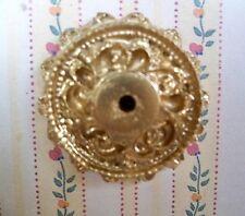 1:12 - Miniatur - wunderschöne echte Lampen STUCK-ROSETTE gold - 40mm (03)