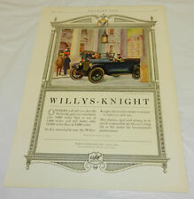 April 1920 issue Country Life Mag. WILLYS-KNIGHT Car Ad Color Tear Sheet
