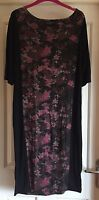 Damned Delux Black And Floral Dress, Size 20 - Gorgeous!