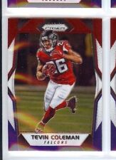 TEVIN COLEMAN 2017 PANINI PRIZM RED WHITE BLUE PARALLEL  #58 ATLANTA FALCONS