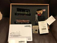 Steiff Bear-Marklin #94343 Limited Edition Train Set, wooden Box with COA. RARE!