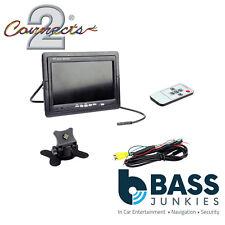 """Connects 2 RVM7 7"""" Universal coche reposacabezas Monitor TFT 12 V Color de la cáscara y remota"""