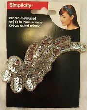 Simplicity Silver Sequin Swirl Headband Accent decor