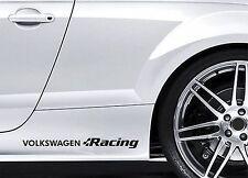 2x Side Skirt Stickers fits VW Volkswagen Racing Graphics Premium Decals BL107