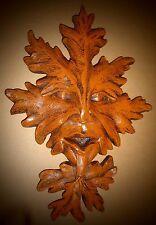 """Oak Leaf Green Man Wall Sculpture Home Garden Decor 16"""" leaf face"""