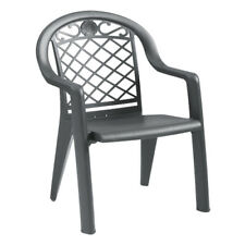 Grosfillex Us103102 Savannah Charcoal Stacking Armchair (20 per case)