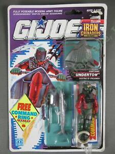MOC 1990 GI Joe Cobra Iron Grenadier Destros Frogmen Undertow v1 FACTORY SEALED