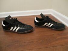 Used Worn Size 13.5 Adidas Samba Shoes Black White Red