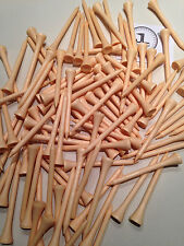"1000 JL Golf natural wooden tees 69 / 70mm long (2 3/4"") *NEW* Xmas gift fathers"