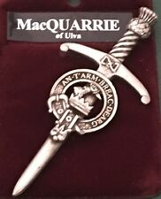 MacQuarrie Scottish Clan Crest Kilt Pin Sword Style Pewter