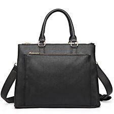 Women Designer  Shoulder Tote Handbag Plain Bag Satchel Laptop Briefcase