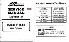 1985-89 Mercury MerCruiser # 10 GM V-4 Cylinder Marine Engines Service Manual CD