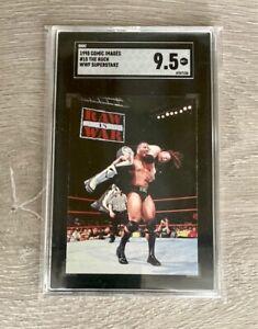 1998 WWF Card THE ROCK Superstarz Comic Images Dwayne Johnson SGC 9.5 PSA Cross