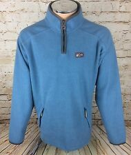 Vintage Santiago Fila Casuals Fleece 1/4 Zip Sweatshirt blau SZ Medium/M Herren
