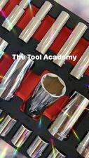 Britool Marque of Skill 6-24mm Std + Deep Sockets in Foam 3/8 DRIVE