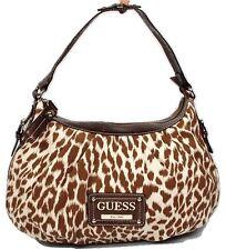 New Guess Zoo Brown Cognac  Women's Leopard Print  Hobo Shoulder Bag Handbag