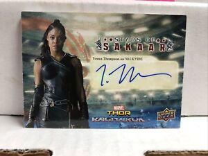 Thor Ragnarok Tessa Thompson Valkyrie Autograph Card Upper Deck 2017 SS-8
