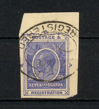 (YYAC 168) British East Africa 1929 USED KUT cut squares stationery registration