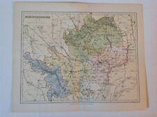Hertfordshire, Antique County Map c1897, Brabner, Atlas, Original, England